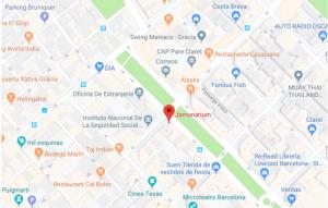mapa jamonarium barcelona